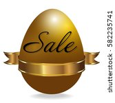 easter sale background with... | Shutterstock .eps vector #582235741