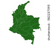 colombia green map | Shutterstock .eps vector #582237595