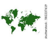 green map of the world. | Shutterstock .eps vector #582237619