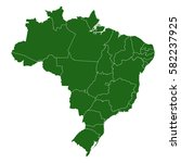 brazil map. background for your ... | Shutterstock .eps vector #582237925