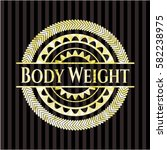 body weight gold badge or emblem | Shutterstock .eps vector #582238975