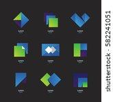 geometric symbols. logotype.... | Shutterstock .eps vector #582241051