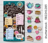 coffee restaurant brochure... | Shutterstock .eps vector #582241285