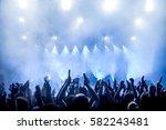 cheering crowd at a rock concert | Shutterstock . vector #582243481