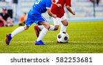 football match for children....   Shutterstock . vector #582253681