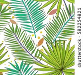 floral seamless pattern.... | Shutterstock .eps vector #582254821