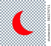 moon icon vector on transparent ... | Shutterstock .eps vector #582274711