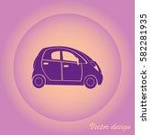 silhouette car  | Shutterstock .eps vector #582281935