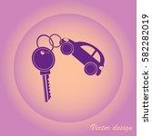 keys with car shaped keyholders | Shutterstock .eps vector #582282019
