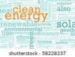 clean energy concept education... | Shutterstock . vector #58228237