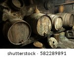 Old Private Wine Cellar With...