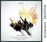 party background with dancing... | Shutterstock .eps vector #582293761