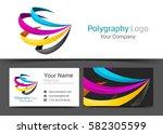 cmyk printing corporate logo...