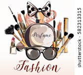 fashion vector illustration... | Shutterstock .eps vector #582313315