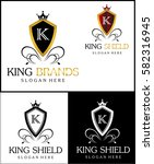 queen shield is beautiful logo... | Shutterstock .eps vector #582316945