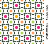 circles and dots seamless...   Shutterstock .eps vector #582317821