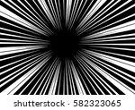 sun rays for comic books radial ... | Shutterstock .eps vector #582323065