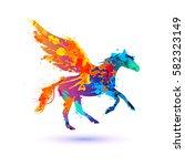 pegasus vector symbol.... | Shutterstock .eps vector #582323149