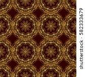 decorative vector golden... | Shutterstock .eps vector #582333679