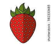 strawberry fresh fruit icon   Shutterstock .eps vector #582333685