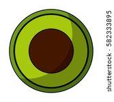 fresh fruit slice isolated icon   Shutterstock .eps vector #582333895