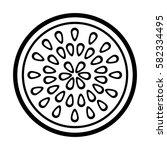 fresh fruit slice isolated icon   Shutterstock .eps vector #582334495
