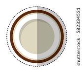 fresh fruit slice isolated icon   Shutterstock .eps vector #582334531