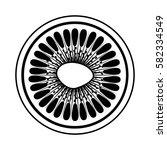 fresh fruit slice isolated icon   Shutterstock .eps vector #582334549