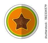 fresh fruit slice isolated icon   Shutterstock .eps vector #582334579