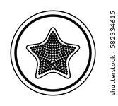 fresh fruit slice isolated icon   Shutterstock .eps vector #582334615