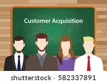 customer acquisition white text ... | Shutterstock .eps vector #582337891