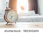 morning of a new day  alarm... | Shutterstock . vector #582342604