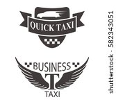 taxi badge car service business ... | Shutterstock .eps vector #582343051