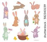 easter rabbit character bunny... | Shutterstock .eps vector #582343159