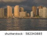 honolulu  hawaii  usa  feb. 19  ... | Shutterstock . vector #582343885