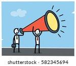marketing concept. businessmen... | Shutterstock .eps vector #582345694