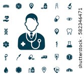 doctor icon  medical set on... | Shutterstock .eps vector #582346471