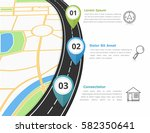 road infographics template with ... | Shutterstock .eps vector #582350641