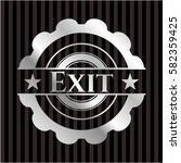 exit silvery shiny badge | Shutterstock .eps vector #582359425