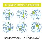 doodle vector illustrations of... | Shutterstock .eps vector #582364669