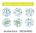 doodle vector illustrations of... | Shutterstock .eps vector #582364681