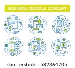 doodle vector illustrations of... | Shutterstock .eps vector #582364705