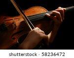violin music instrument... | Shutterstock . vector #58236472