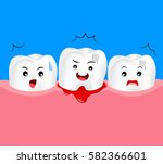 cute cartoon tooth character... | Shutterstock .eps vector #582366601