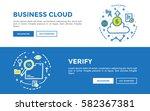 doodle web banners vector...   Shutterstock .eps vector #582367381