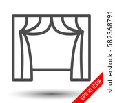 curtain icon. curtain logo.... | Shutterstock .eps vector #582368791