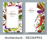 vector spice vertical banners... | Shutterstock .eps vector #582369901