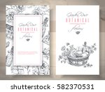 vector rose cosmetic banners on ... | Shutterstock .eps vector #582370531