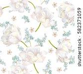 vector spring flower seamless... | Shutterstock .eps vector #582371059