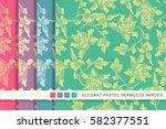 elegant seamless pastel... | Shutterstock .eps vector #582377551